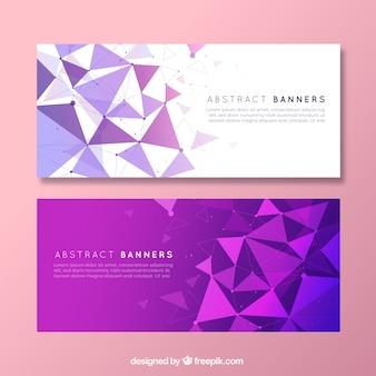Moderna confezione di banner astratti con design piatto