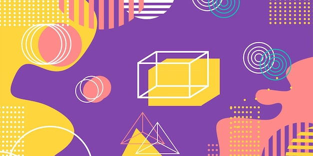Moderna carta da parati geometrica viola pastello sfondo