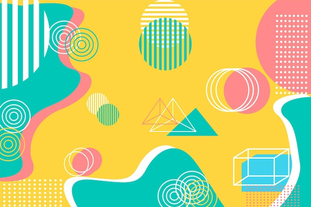 Moderno sfondo geometrico giallo pastello