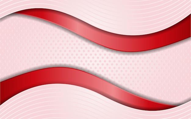 Sfondo rosa moderno con semplici elementi di linee rosse
