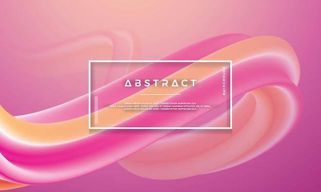 Moderna onda rosa arancione, flusso di liquido sfondo