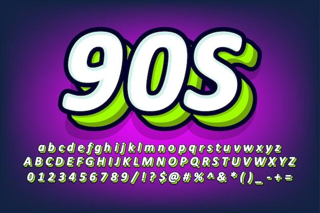 Design moderno dell'alfabeto della cacca