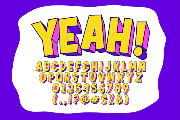 Design moderno dell'alfabeto pop art