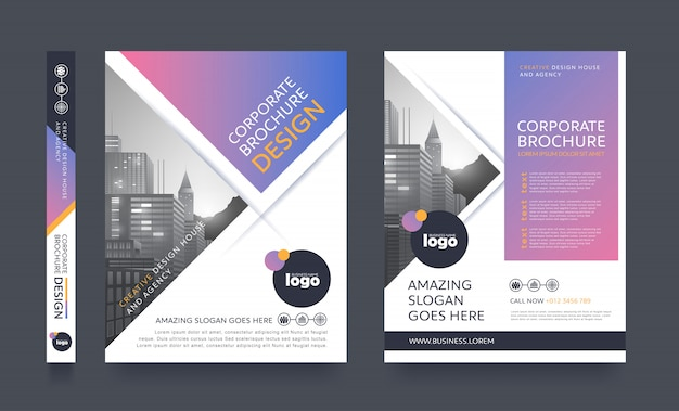 Modello di opuscolo moderno poster flyer
