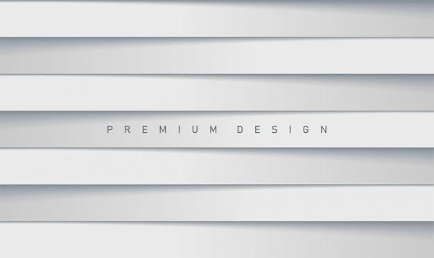Sfondo di copertina premium moderno con strisce grigie bianche sfumate per poster o copertina
