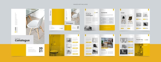Modello di progettazione del catalogo prodotti moderno