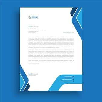 Carta intestata moderna professionale in stile business aziendale design creativo astratto della carta intestata Vettore Premium