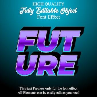 Effetto carattere modificabile in stile testo moderno viola 3d