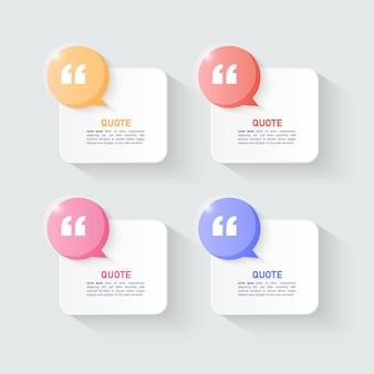 Modello di scatole di bolle di citazioni moderne