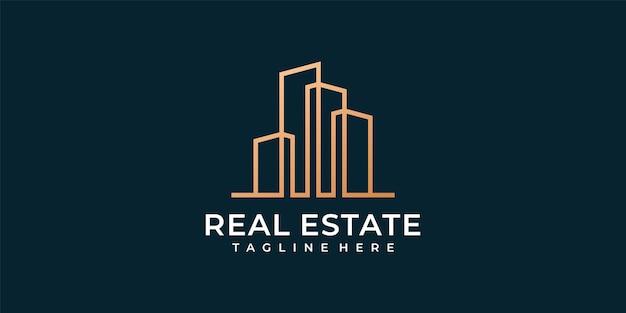Logo di costruzione immobiliare moderna