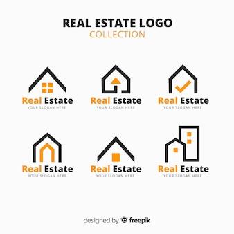 Moderno logo immobiliare collectio