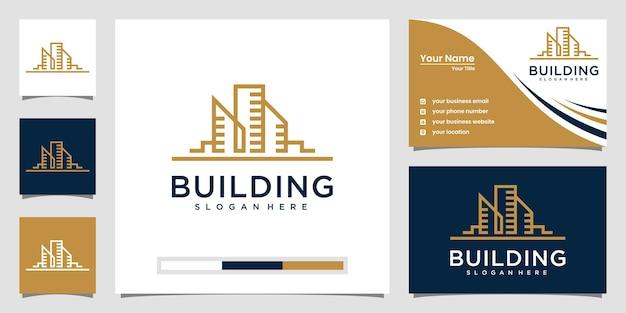 Logotipi di immobili moderni