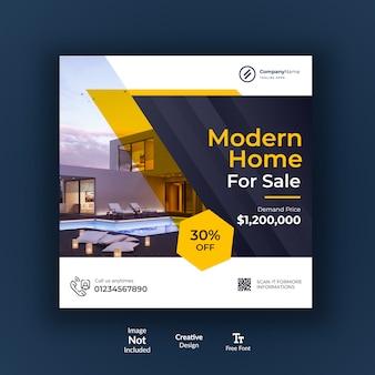 Moderno design dei social media immobiliari