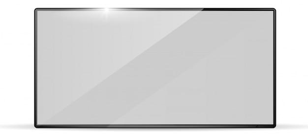 Moderno televisore widescreen realistico