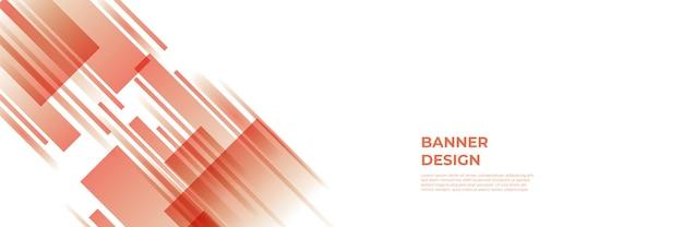 Fondo rosso moderno della bandiera. modello astratto del fondo del modello dell'insegna di progettazione grafica di vettore.