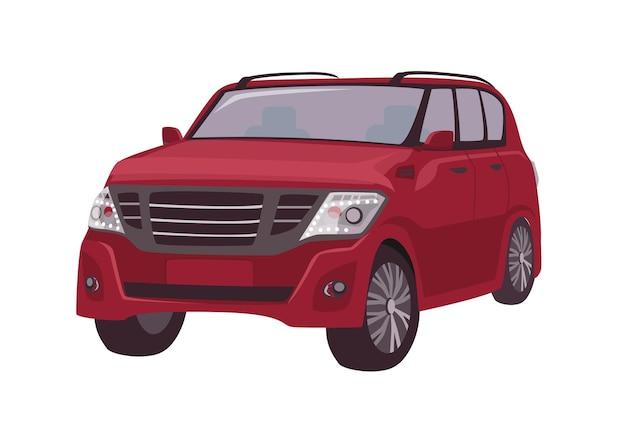 Crossover rosso moderno, auto cuv o automobile isolata su bianco