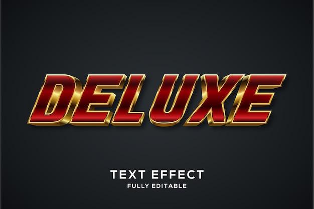 Effetto di stile di testo 3d rosso e oro moderno
