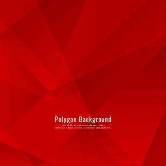 Abstract colore rosso moderno sfondo poligonale