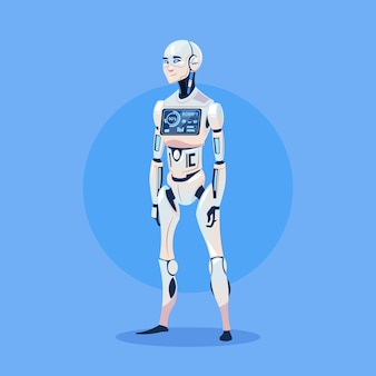 Modern robot futuristic artificial intelligence technology