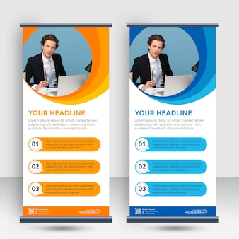 Moderno roll up standee banner modello
