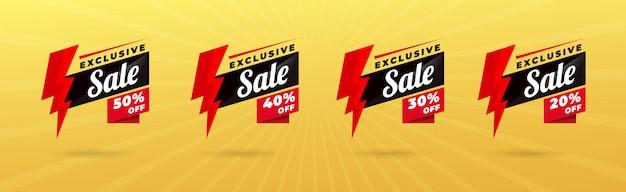 Set di banner di vendita moderna