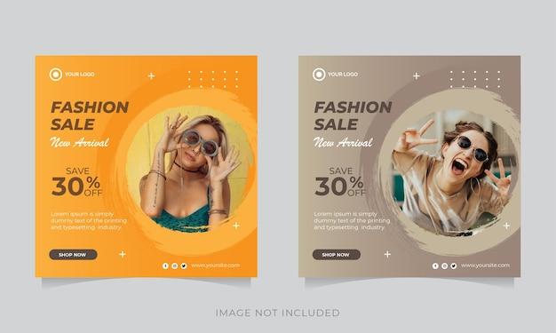 Banner di vendita moderna per modello web e social media