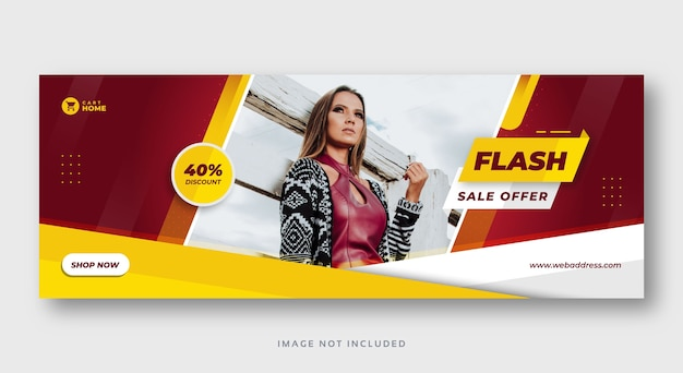 Banner web copertina social media di vendita moderna