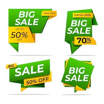 Collezione colorata di adesivi e tag di vendita moderni