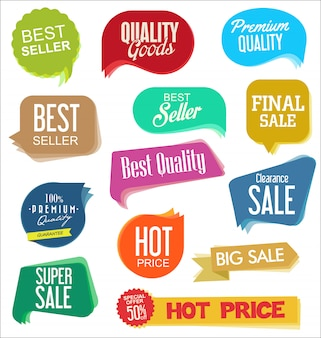 Adesivi di vendita moderni