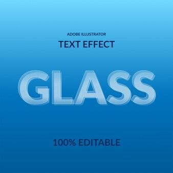 Carattere moderno san serif effetto di testo modificabile trasparente moderno bianco vetro 3d