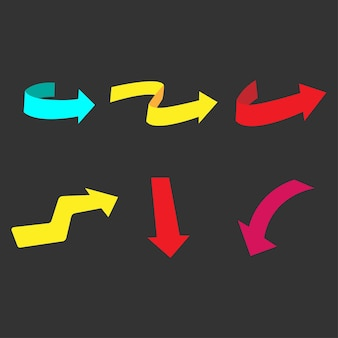 Set moderno di frecce vector