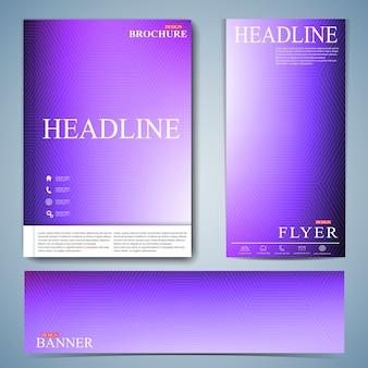 Set moderno di brochure, flyer, libretto, copertina o relazione annuale in formato a4 per il tuo design. illustrazione