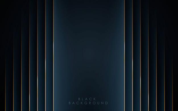 Sfondo astratto nero di forma moderna