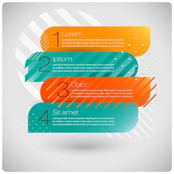 Infographics astratto di forme moderne