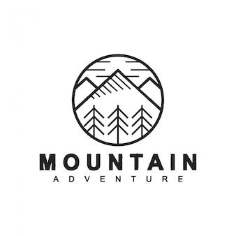 Design del logo di montagna moderno e semplice