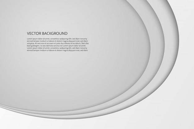 Moderno ovale semplice sfondo grigio e bianco