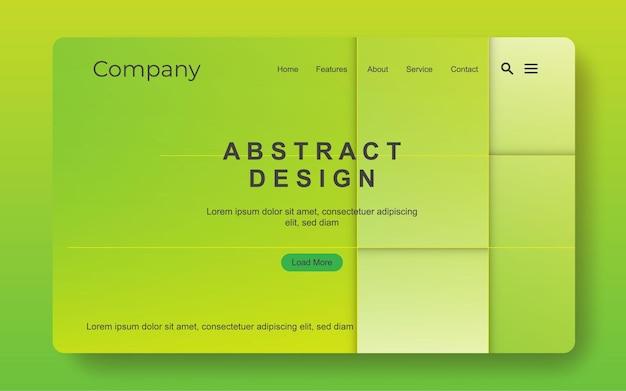 Modello di banner web semplice moderno