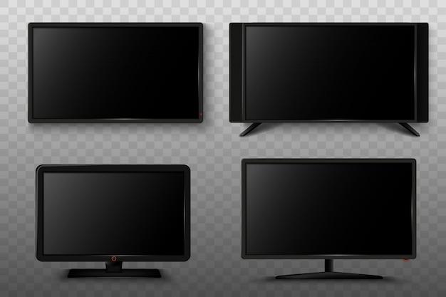Illustrazione astuta moderna del set televisivo 3d.