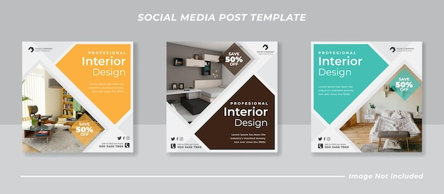 Bundle di banner post feed instagram moderno dei social media