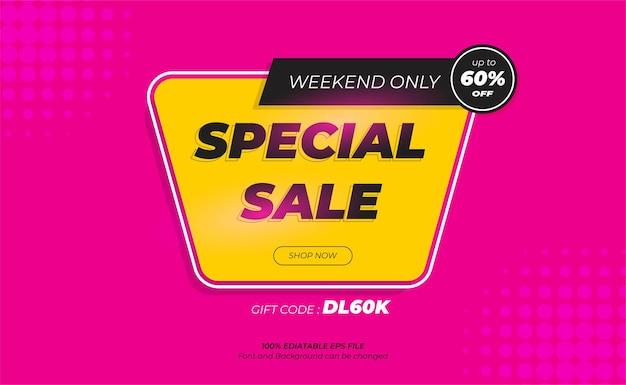 Design moderno banner vendita speciale