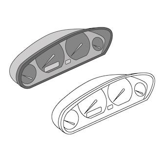 Vettore moderno del pannello dell'interfaccia del tachimetro
