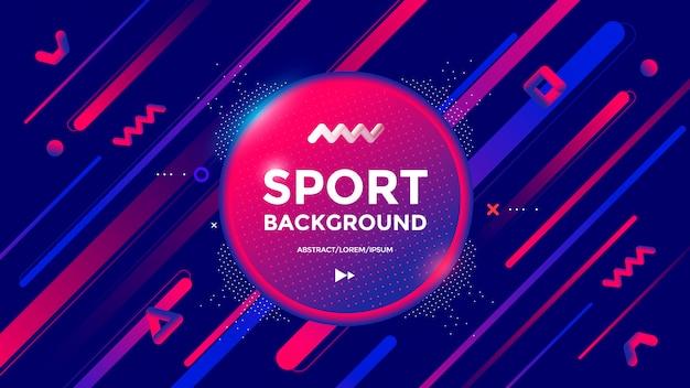 Design moderno di sfondo sportivo con linee e forme di gradienti dinamici. astratto geometrico alla moda
