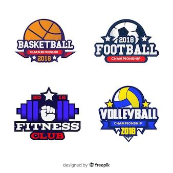 Collezione logo sport moderno