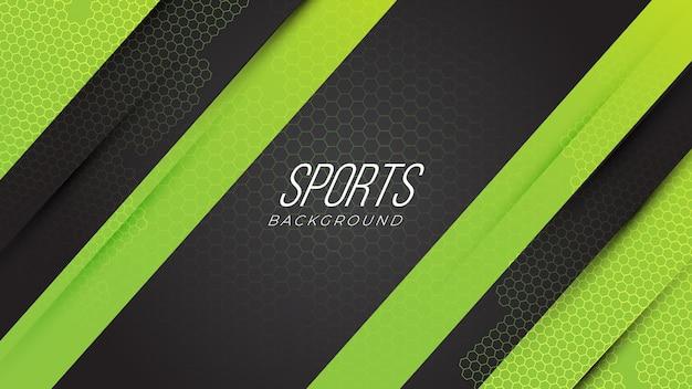 Fondo astratto di gioco al neon sportivo moderno con gradiente di forme geometriche