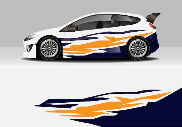Involucro per auto astratto sportivo moderno, adesivo per auto