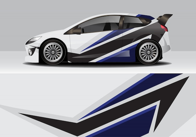 Moderna sportiva astratta race car wrap, adesivo decalcomania
