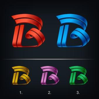 Logo moderno della lettera b stilizzato