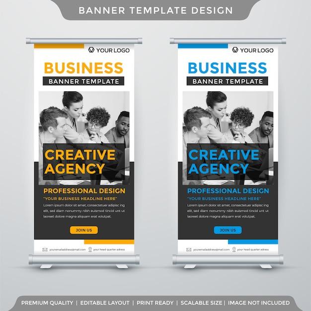 Modello di banner stand moderno con stile minimalista
