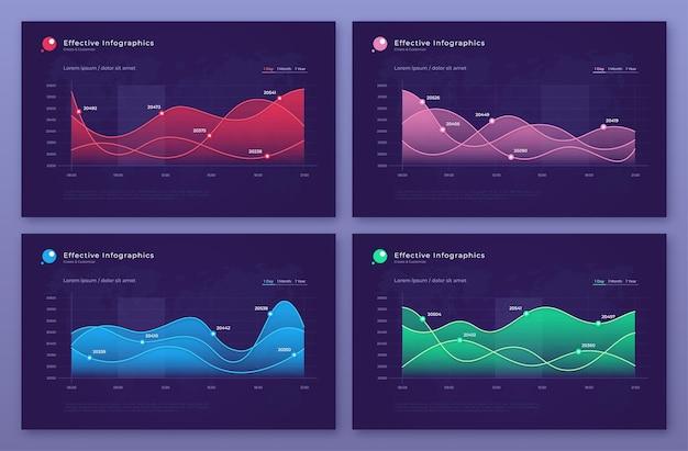 Diagrammi statistici moderni, grafici, grafici.