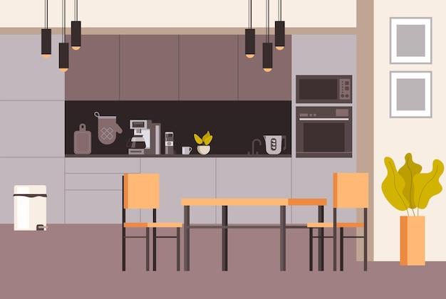 Interiore della cucina domestica in stile moderno.